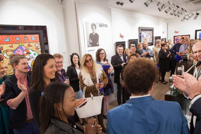 038 705x470 Commercial Photography; Castle Galleries Romero Britto preview event