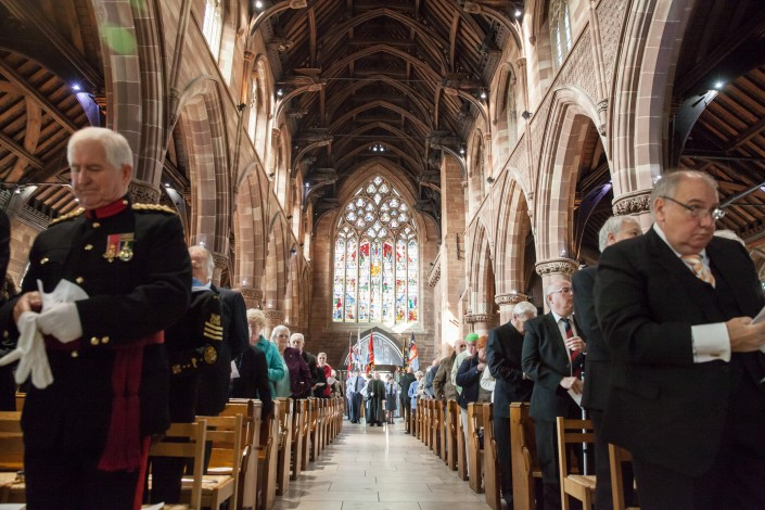 IMG 5008 705x470 Commercial Photography; BARRA WW2 remembrance ceremony, St Martins Church, Birmingham