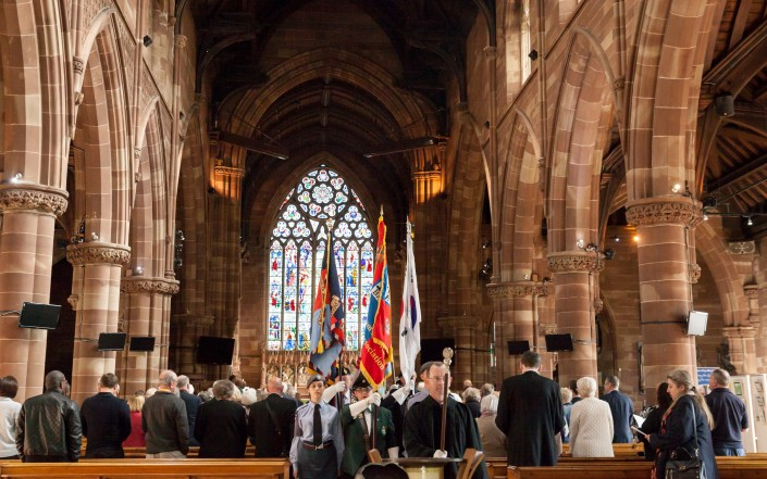 IMG 5125 705x441 Commercial Photography; BARRA WW2 remembrance ceremony, St Martins Church, Birmingham